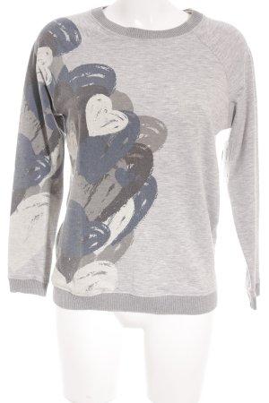 Desigual Sweatshirt Herzmuster Casual-Look