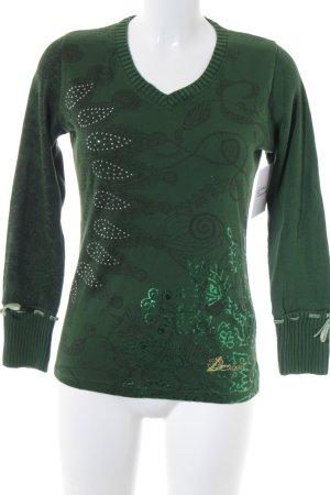 Desigual Sweatshirt waldgrün Casual-Look