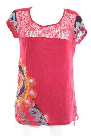 Desigual T-Shirt abstraktes Muster extravaganter Stil