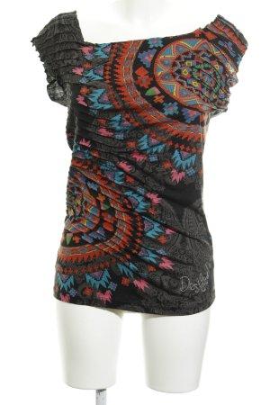 Desigual T-Shirt Aztekenmuster Casual-Look