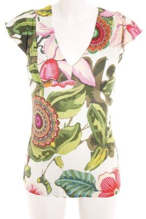 Desigual T-Shirt Blumenmuster extravaganter Stil