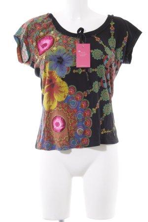 Desigual T-Shirt Blumenmuster Gypsy-Look