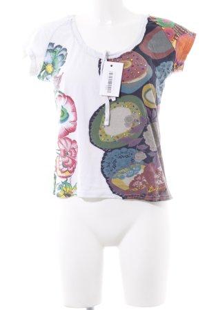 Desigual T-Shirt Blumenmuster Hippie-Look