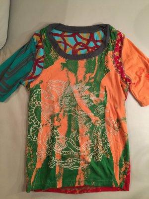 DESIGUAL T-Shirt bunt, Adam und Eva, Gr. XL, neu und ungetragen