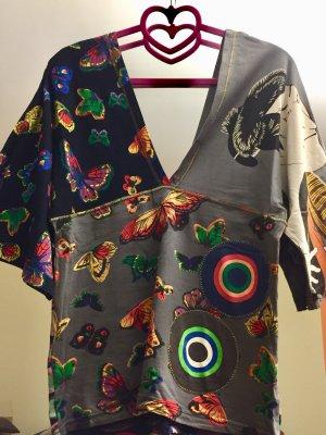 Desigual V-Neck Shirt multicolored cotton