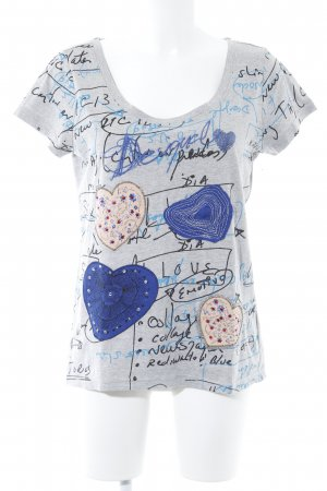 Desigual T-Shirt Herzmuster Casual-Look