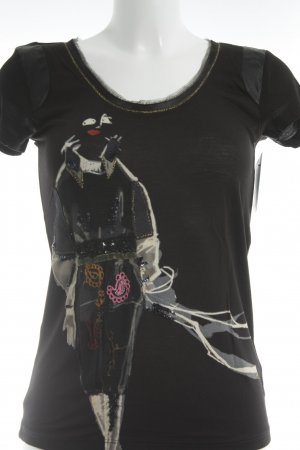 Desigual T-Shirt Maltechnik-Muster Casual-Look