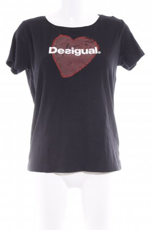 Desigual T-Shirt Motivdruck Casual-Look