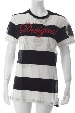 Desigual T-Shirt Ringelmuster Marine-Look