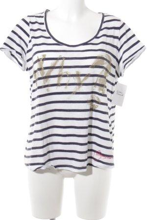 Desigual T-Shirt Schriftzug gedruckt Casual-Look