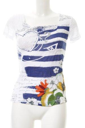 Desigual T-Shirt Streifenmuster Boho-Look