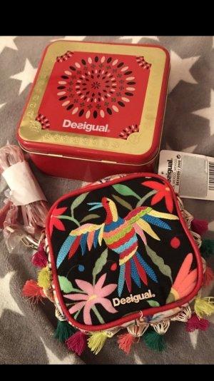 Desigual Tasche mit Stickereien neu mit Box 89€