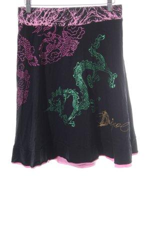 Desigual Circle Skirt abstract pattern casual look