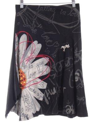 Desigual Falda circular estampado floral look casual