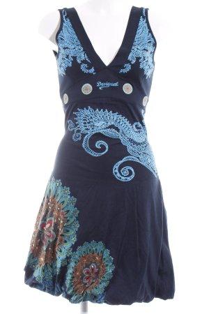 Desigual Trägerkleid dunkelblau abstraktes Muster Street-Fashion-Look