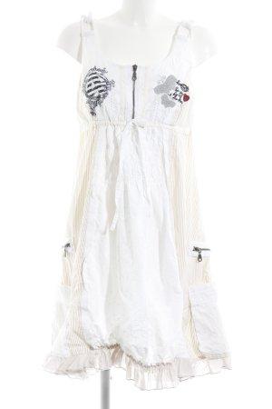 Desigual Trägerkleid weiß-beige extravaganter Stil