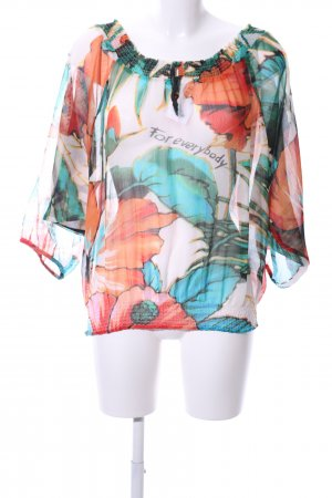 Desigual Transparent Blouse abstract pattern business style