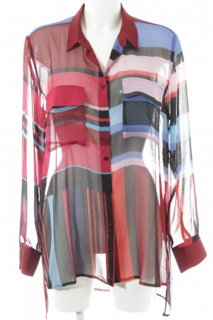 Desigual Transparenz-Bluse Colourblocking Casual-Look