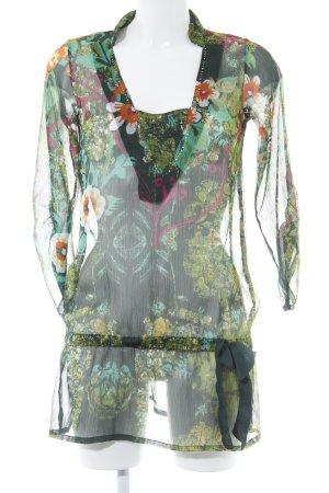 Desigual Transparenz-Bluse florales Muster extravaganter Stil