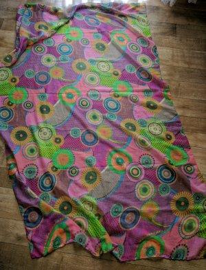 Desigual Châle au tricot multicolore coton