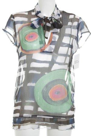 Desigual Tunikabluse abstraktes Muster Romantik-Look
