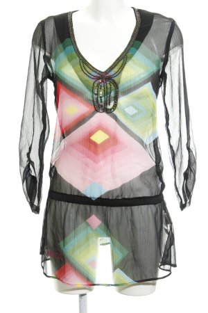 Desigual Tunikabluse grafisches Muster Casual-Look
