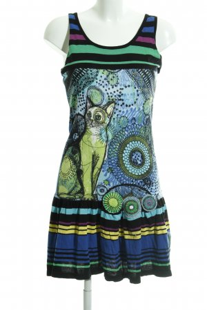 Desigual Tunic Dress mixed pattern casual look