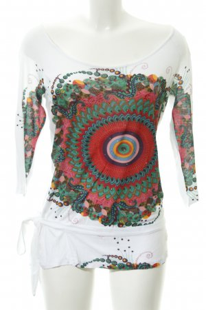 Desigual Boothalsshirt abstracte print casual uitstraling