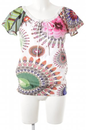 Desigual Boothalsshirt abstract patroon casual uitstraling