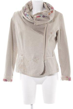 Verkaufsförderung verschiedenes Design perfekte Qualität Desigual Übergangsjacke creme-beige Casual-Look