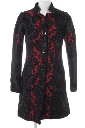 Desigual Abrigo de entretiempo negro-rojo estilo extravagante