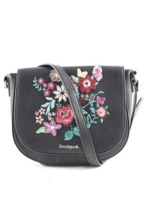 Desigual Gekruiste tas zwart bloemenprint Zigeuner stijl