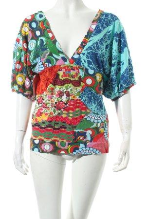 Desigual V-Ausschnitt-Shirt Mustermix Casual-Look
