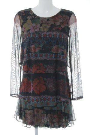 Desigual Robe à volants motif de fleur style romantique