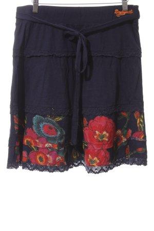 Desigual Falda con volantes estampado floral estilo sencillo