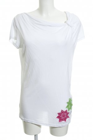 Desigual Cowl-Neck Shirt white casual look