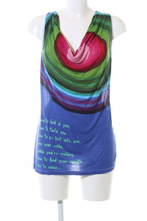 Desigual Cowl-Neck Top themed print casual look