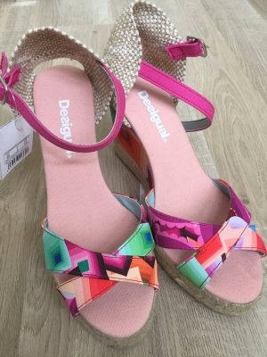 Desigual Wedge Sandals multicolored