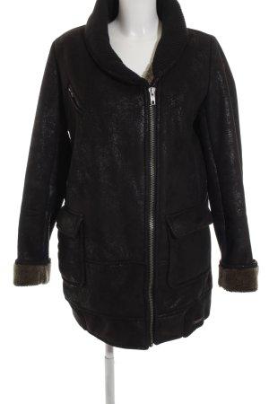 Desigual Winterjacke schwarz-silberfarben Casual-Look