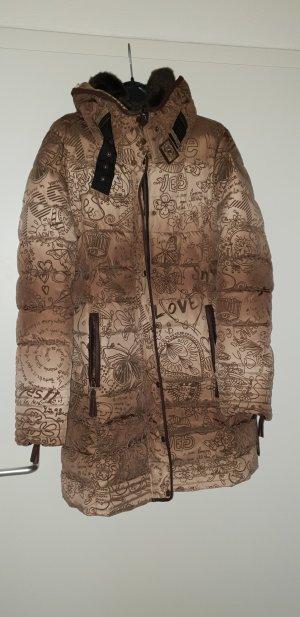 Desigual Abrigo de invierno marrón claro-marrón