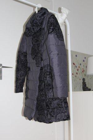 Desigual Gewatteerde jas zwart-antraciet Polyester