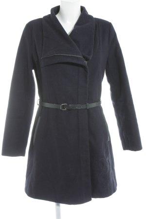 Desigual Wintermantel dunkelblau-schwarz Casual-Look