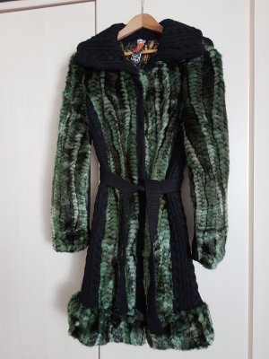 Desigual Fake Fur Coat multicolored synthetic fibre