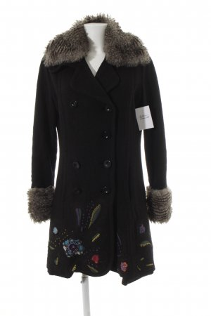 Desigual Wintermantel schwarz Casual-Look