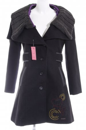 Desigual Wintermantel schwarz-grau Casual-Look