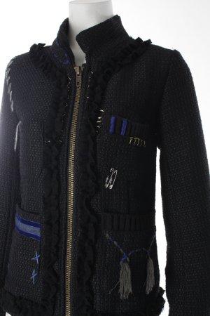 Desigual Woll-Blazer mehrfarbig extravaganter Stil