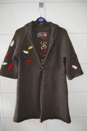 Desigual Wolle Pullover gr.S Überzieher braun