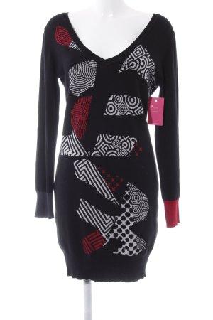 Desigual Robe en laine Mélange de motifs style simple