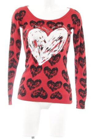 Desigual Jersey de lana Herzmuster estilo romántico