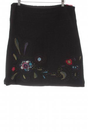 Desigual Wool Skirt floral pattern elegant